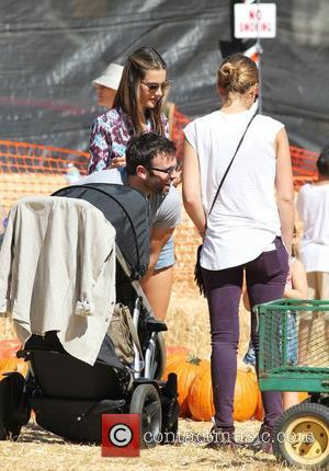 Alessandra Ambrosio, Jamie Mazur and Jessica Alba  Celebrity moms and their kids head to Mr. Bones Pumpkin Patch Los...