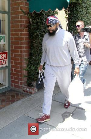Mr. T outside Judi Deli on Bedford Drive in Beverly Hills Los Angeles, California - 17.05.12