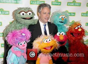 Jon Stewart with Elmo and The Sesame Street Muppets to host Sesame Workshop's 10th Annual Benefit Gala New York City,...