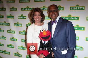 Sherrie Westin, Elmo, Melvin Ming Jon Stewart with Elmo and The Sesame Street Muppets to host Sesame Workshop's 10th Annual...