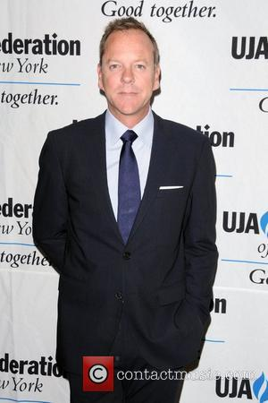 Kiefer Sutherland 2012 Music Visionary of the Year Award Luncheon, held at The Pierre Hotel - Arrivals New York City,...