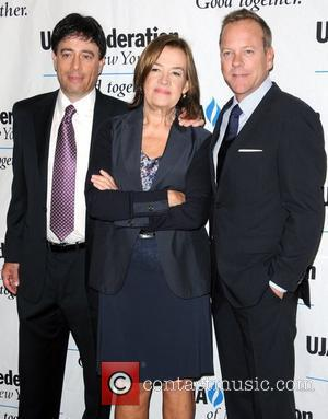 Rick Krim, Guest and Kiefer Sutherland 2012 Music Visionary of the Year Award Luncheon, held at The Pierre Hotel -...