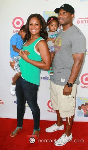 Laila Ali, Curtis Conway & family at the 3rd Annual My Brother Charlie Family Fun Festival held at The Culver...