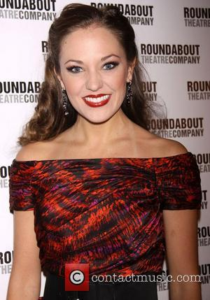 Laura Osnes  Broadway opening night of 'The Mystery of Edwin Drood' at Studio 54 - Arrivals New York City,...