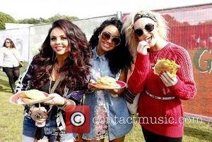 Jesy Nelson, Leigh-Anne Pinnock and Perrie Edwards of Little Mix at Nando's GigNics at Haggerston Park London, England - 09.06.12...