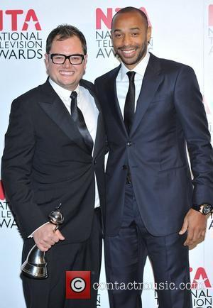 Alan Carr and Thierry Henry National Television Awards held at the O2 Arena - Press Room. London, England - 25.01.12