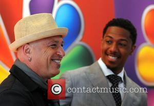 Howie Mandel and Nick Cannon  2012 NBC Upfront Presentation at Radio City Hall - Arrivals New York City, USA...
