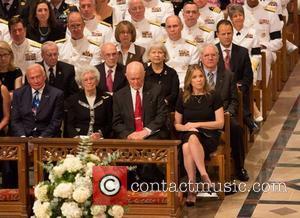 Buzz Aldrin, Annie Glenn and John Glenn Memorial service in honour of United States astronaut Neil Armstrong Washington DC, USA...