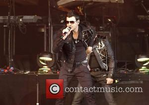 Jordan Knight of New Kids On The Block performing at Liverpool Echo Arena. Liverpool, England - 23.04.12
