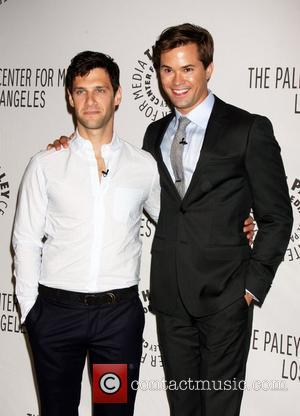 LOS ANGELES - SEP 5: Andrew Rannells, Justin Bartha arrives at The New Normal Fall TV Preview at Paley Center...