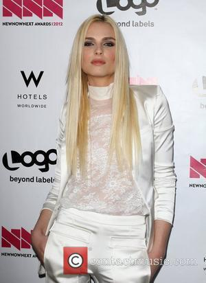 Andrej Pejic W Hotel's Private Lounge at LOGO's 2012 'NewNowNext' Awards - Backstage Los Angeles, California - 05.04.12