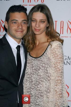 Angela Sarafyan and Rami Malek from the