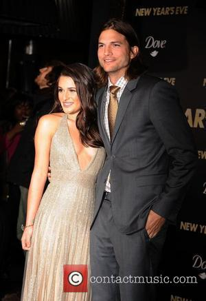 Ashton Kutcher, Lea Michele, Grauman's Chinese Theatre