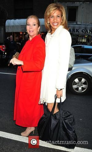 Kathie Lee Gifford and Hoda Kolb New York Giants Super Bowl Rally Luncheon - Outside Arrivals New York City, USA...