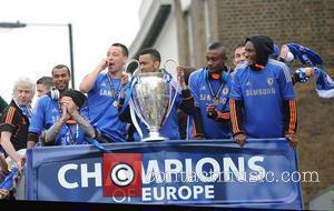 Ashley Cole, Raul Miereles, John Terry, Jose Bosingwa, Saloman Kalou and John Obi-Mikel Chelsea FC European Champions League victory parade...