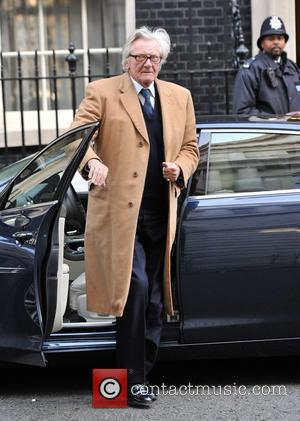 Michael Heseltine arrives at 10 Downing Street. London, England - 08.03.12