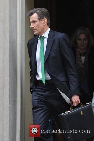Head of MI6, Sir John Sawers. Ministers leave after a meeting at 10 Downing Street. London, England - 02.05.12