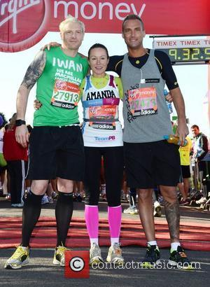 Iwan Thomas, Amanda Mealing and Culum Best The 2012 Virgin London Marathon - Start London, England - 22.04.12