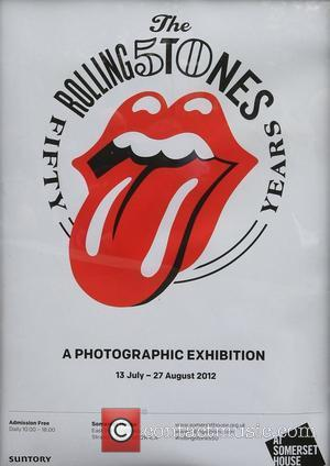 A poster advertising a new photographic exhibition at Somerset House celebrating the 50th annivesary of the first live appearance by...