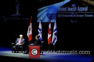 Shimon Peres and David Frum