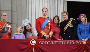 Prince Philip, Kate Middleton, Prince Harry, Prince William and Princess Beatrice
