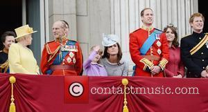 Queen Elizabeth II, Kate Middleton, Prince Harry, Prince Philip and Prince William
