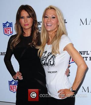 Susan Johnson and Melania Trump