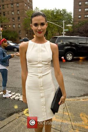 Odette Yustman  Mercedes-Benz New York Fashion Week Spring/Summer 2013 - Celebrity Outside Arrivals   New York City, USA...