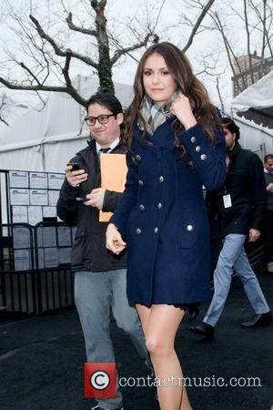Nina Dobrev  Mercedes-Benz Fashion Week Fall 2012 - Herve Leger by Max Azria - Departures New York City, USA...