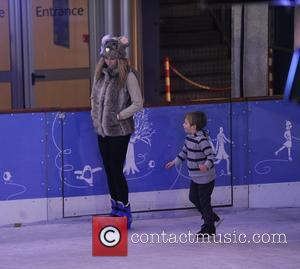 Stacey Solomon takes to the ice, at the Natural History Mueseum Ice Rink. London, England - 01.11.12