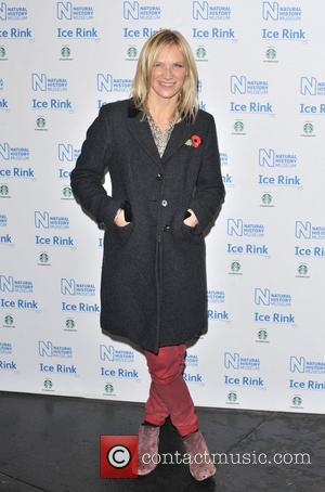 Jo Whiley Natural History Museum Ice Rink launch party - Arrivals London, England - 01.11.12