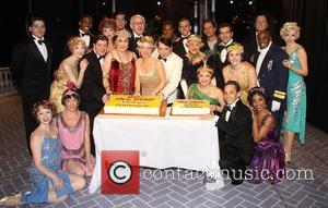 Michael Mcgrath, Kristen Beth Williams, Judy Kaye, Kelli O, Hara, Matthew Broderick, Grasan Kingsberry, Estelle Parsons, Jennifer Laura Thompson, Chris Sullivan, Backstage, Broadway, Nice Work If You, Can Get It, Imperial Theatre. New York, City and Imperial Theatre