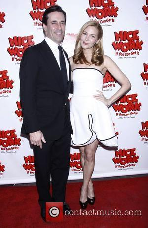 Jon Hamm and Jennifer Westfeldt  Broadway opening night of 'Nice Work If You Can Get It' at the Imperial...