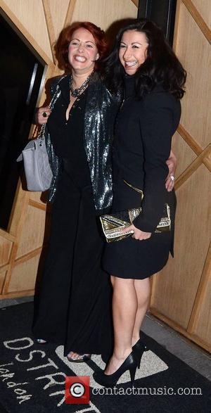 Hayley Tamaddon And Sarah Cawood ,  at PR guru Nick Ede's birthday party at Dstrkt Club. London, England -...