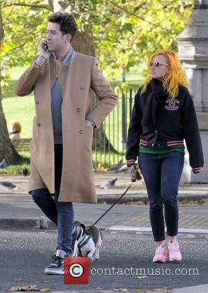 Nick Grimshaw walks through Primrose Hill with a friend London, England - 03.11.12