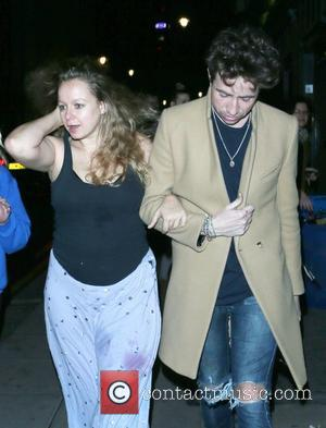 Nick Grimshaw and Samantha Morton  leaving the Groucho nightclub London, England - 20.10.12