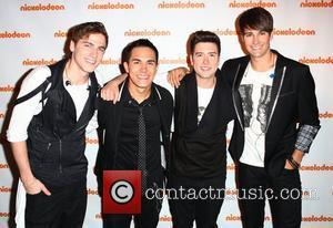 Kendall Schmidt, Carlos Pena, Logan Henderson, James Maslow of Big Time Rush Nickelodeon's Upfront 2012 at the Avalon  Hollywood,...