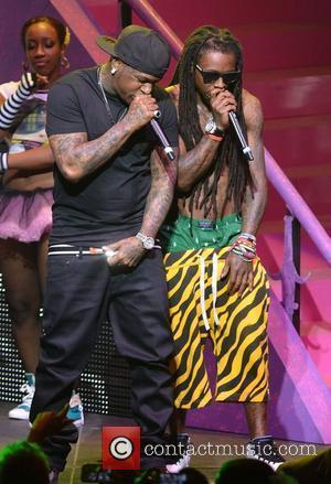 Birdman and Lil Wayne performing live on the Nicki Minaj Tour at James L Knight Center  Miami, Florida -24.07.12