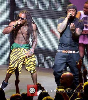 Lil Wayne and Birdman performing live on the Nicki Minaj Tour at James L Knight Center  Miami, Florida -24.07.12