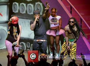 Nicki Minaj, Birdman and Lil Wayne performing live on the Nicki Minaj Tour at James L Knight Center  Miami,...