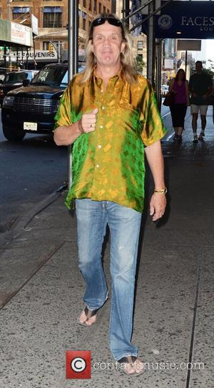Iron Maiden drummer Nicko McBrain  leaving his Midtown hotel  New York City, USA - 27.08.12