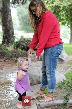 Nicole Eggert and daughter Keegan Former 'Baywatch' star takes her daughter to a park in Beverly Hills Los Angeles, California...