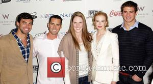 Missy Franklin, Nicole Kidman, Merrill Moses and Ricky Berens