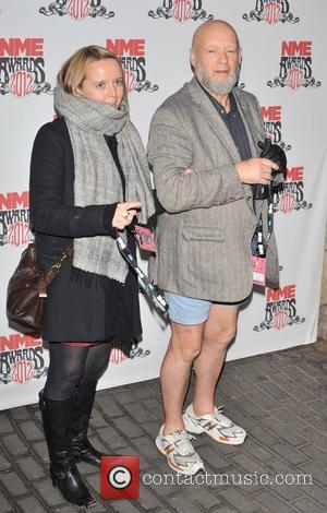 Michael Eavis and guest NME Awards 2012 held at the O2 Academy Brixton - Arrivals.  London, England - 29.02.12