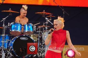 Adrian Young, Gwen Stefani No Doubt performs live in Central Park as part of Good Morning America's Summer Concert Series...