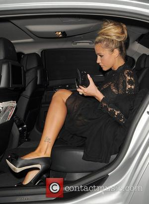 Katie Price leaving Nobu restaurant. London, England - 28.06.12