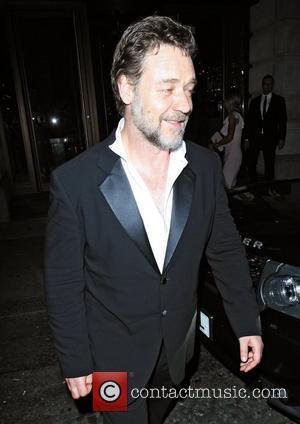 Russell Crowe leaving Novikov restaurant. London, England - 24.05.12