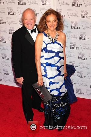 Barry Diller and Diane von Furstenberg  New York City Ballet Fall Gala 2012 held at Lincoln Center-  Arrivals...