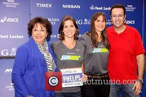 Jared Fogle, Whitney Phelps, Hilary Phelps and Debbie Phelps