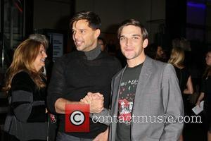 Ricky Martin and Guest Mercedes-Benz New York Fashion Week Spring/Summer 2013 – Emporio Armani - Party  New York City,...